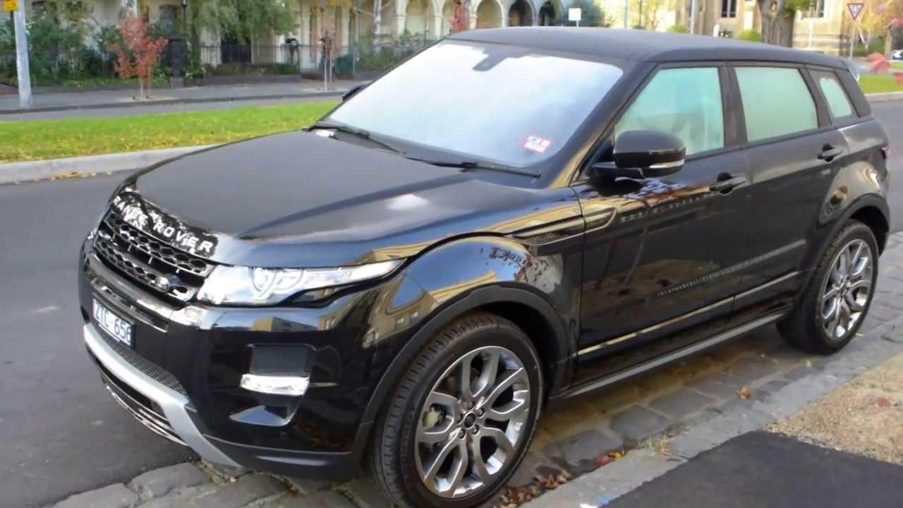 2013 brand new range rover evoque dynamic black colour at melbourne australia youtube. Black Bedroom Furniture Sets. Home Design Ideas