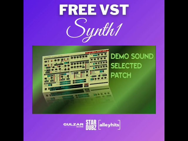 Free VST || SYNTH1 || FREE DOWNLOAD