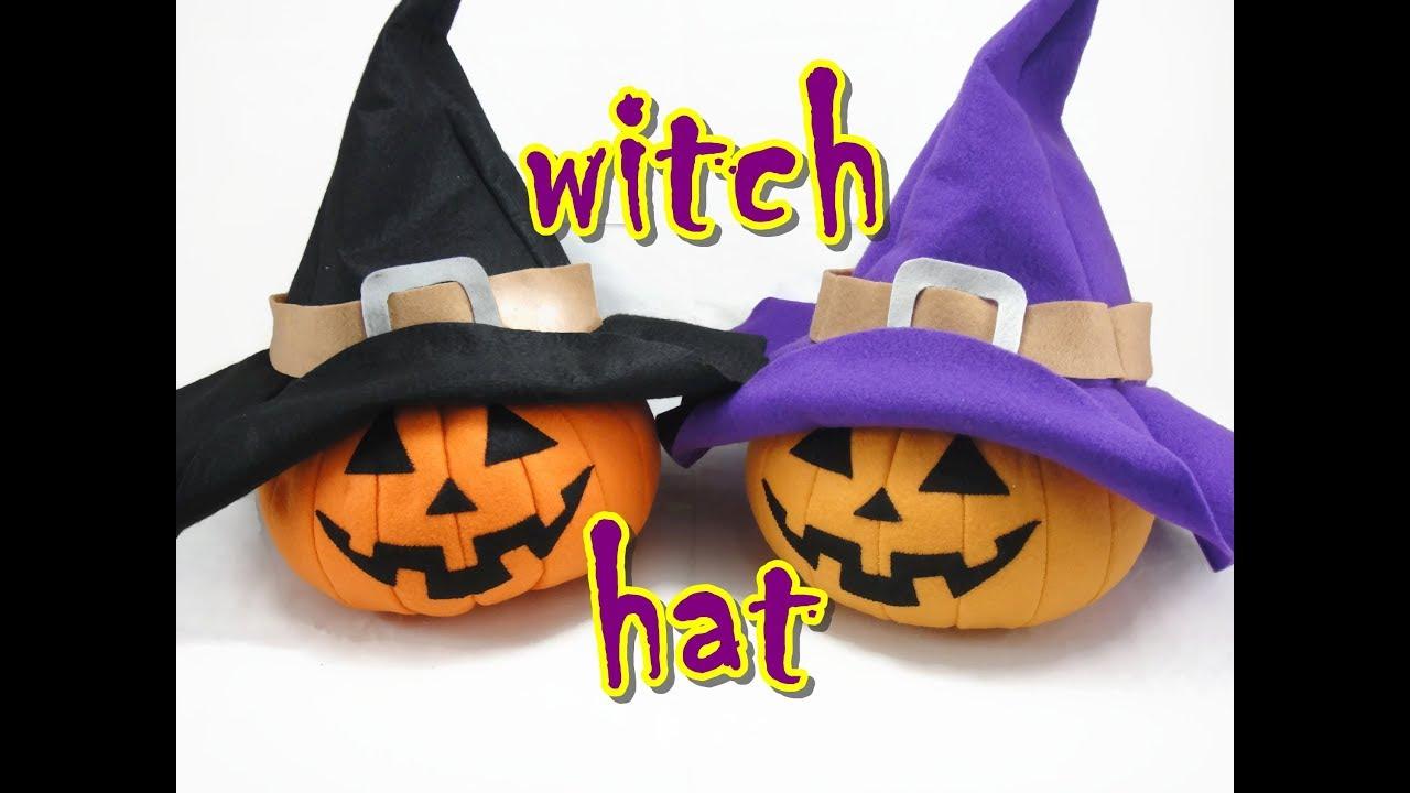 Felt Craft Tutorial - Halloween Witch Hat - YouTube