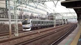 JR横須賀線E217系新子安駅通過