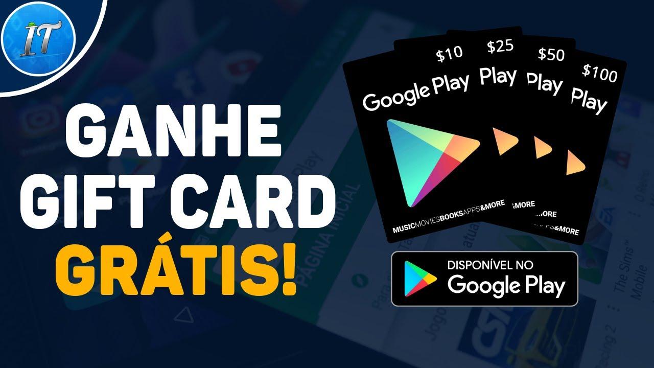 Como Ganhar Gift Card de Graça [na Google Play Store] – Grátis! Rápido e Fácil 2020! Não é Fake!