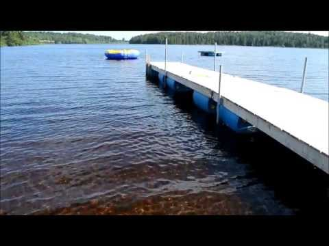 How to build a floating dock using barrels