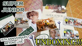 Download [UNBOXING] SUPER JUNIOR 15TH ANNIVERSARY - BEYOND LIVE! MERCH | teukienickie