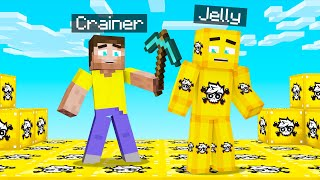 Playing MINECRAFT But The WORLD Is CRAINER LUCKY BLOCKS!