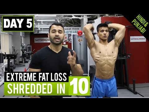 High Intensity FAT LOSS WORKOUT! Day-5 (Hindi / Punjabi)
