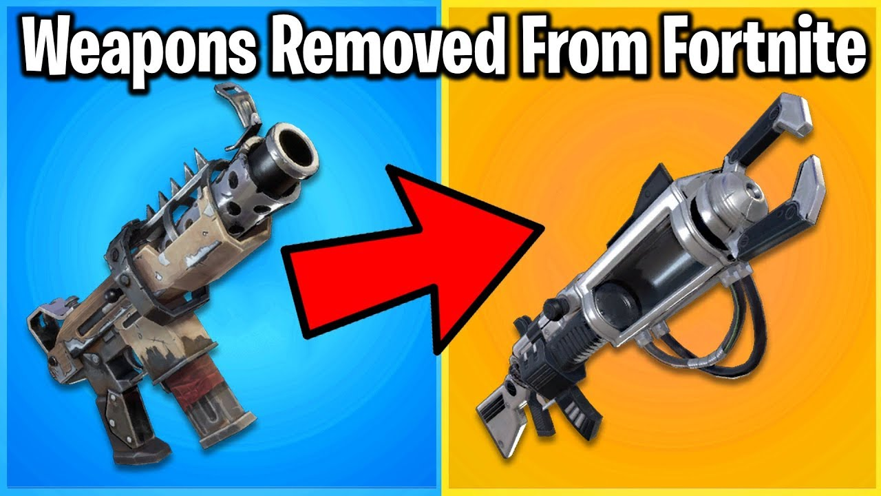 13 WEAPONS REMOVED FROM FORTNITE!