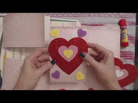 ASMR ~ Making Valentine's Cards (Soft Spoken)