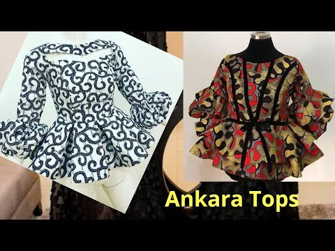 Ankara Top / Ankara peplum blouse African women clothing | Ankara peplum top styles | African Tops