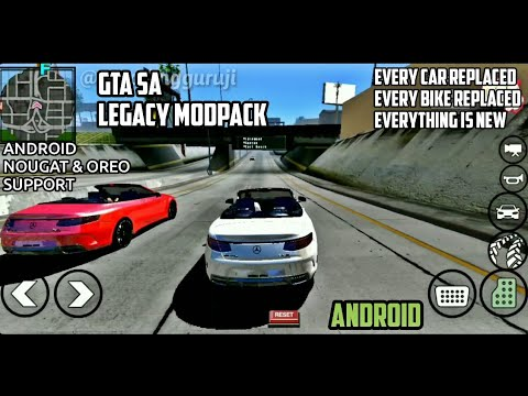 GTA LEGACY Modpack GTA SA ANDROID | 1080p Cinematic | Android Nougat ,Oreo Support