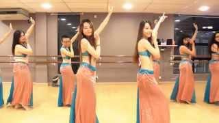 """Belly Dance Class """"Habibi Ya Eini"""" Choreography @ DancePot, KL"""
