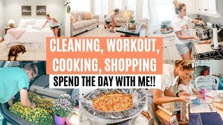 CLEAN WITH ME, COOK WITH ME, WORKOUT, SHOPPING! // GET IT ALL DONE WITH ME // Amy Darley