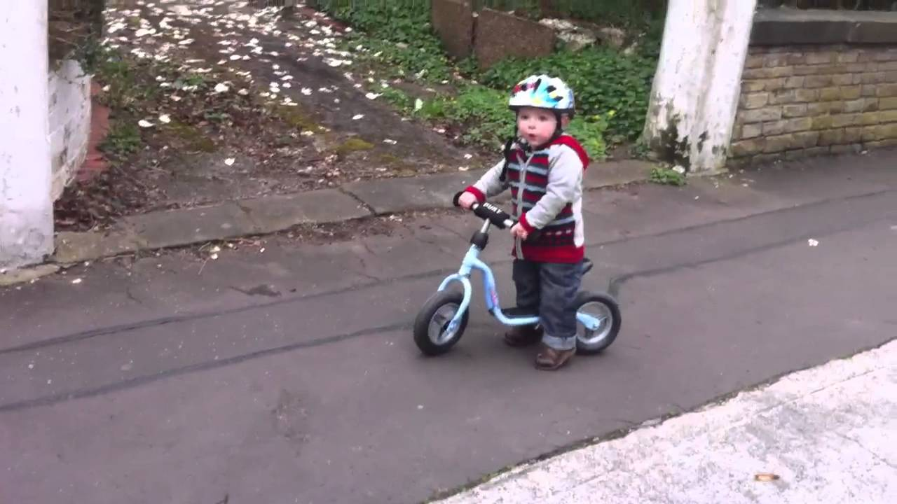 Puky Balance Bike Edwin After 2 Weeks Practice Youtube