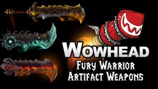 Fury Warrior Artifact Weapons - Odyn's Fury & Helya's Wrath, Warswords of the Valariar
