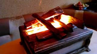 Электрокамин на воде (паровой). Своими руками.(Электрокамин паровой. Подсветка пара лампами даёт эффект огня очень близкий к натуральному., 2014-10-17T19:13:55.000Z)