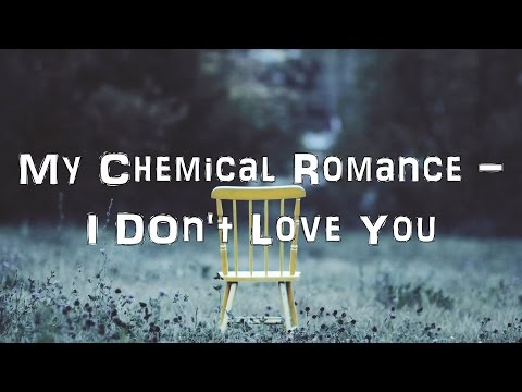 My Chemical Romance - I Don't Love You [Acoustic Cover.Lyrics.Karaoke]