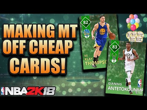 MAKING A LOT OF MT BY BUYING CHEAP CARDS IN NBA 2K18 MYTEAM! Top 5 Snipes