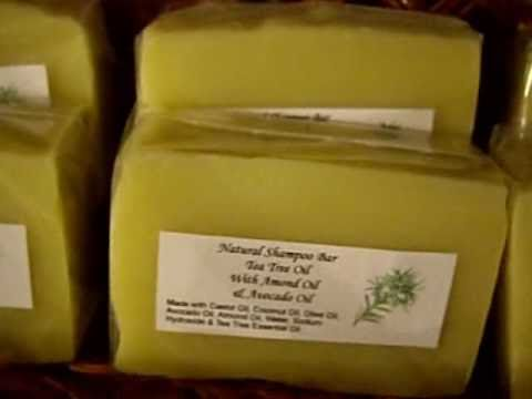 Making Soap - Tea Tree Oil Shampoo Bars with Nutrients Avocado Oil and Almond Oil