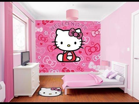 tren motif keramik kamar tidur anak hello kitty - youtube