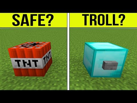 Minecraft: SPOT THE TROLL!!! (NOTHING IS SAFE) - Secure Base Escape Pat's Castle
