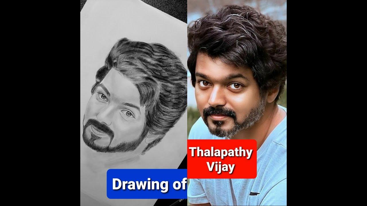 Thalapathy Vijay / Drawing / Master version. - YouTube