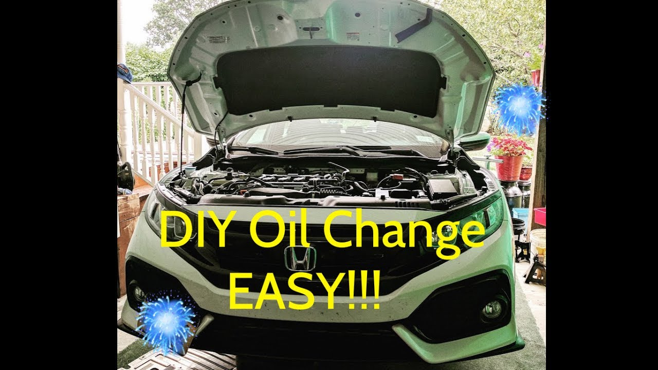 How To Change Your Oil 2016 Honda Civic Turbo Easy