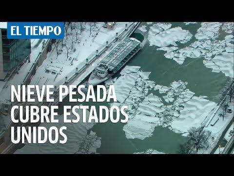 Nieve pesada y manta de hielo cubre a medio oeste de Estados Unidos   EL TIEMPO
