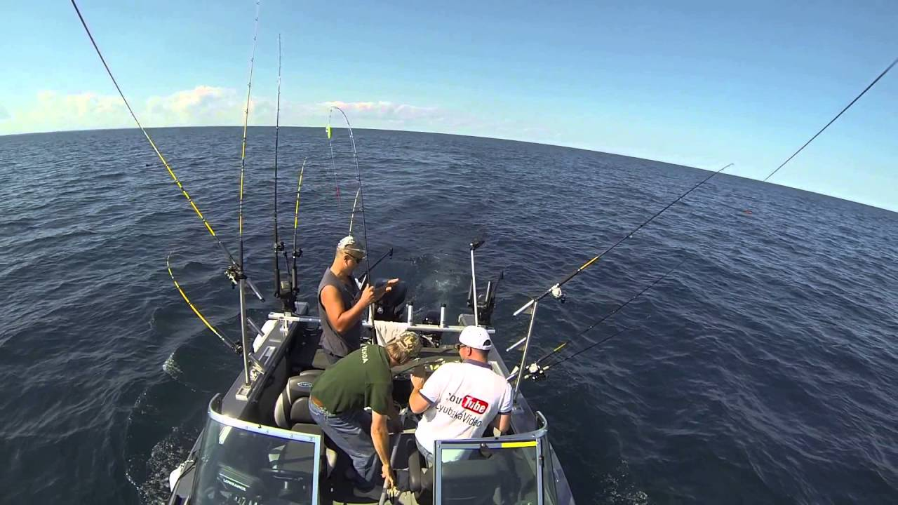 Great Lakes Trolling for Salmon and Lake Trout