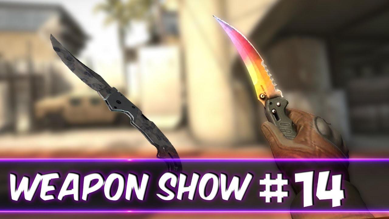 WeaponShow #14 FLIP KNIFE FADE / FALCHION STAINED