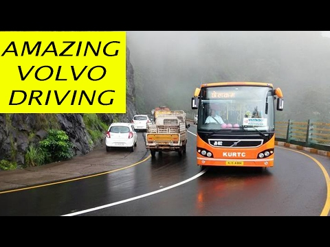 Dangerous Volvo Bus Driving on Himalayan Roads
