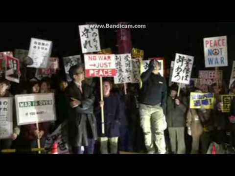 「アベハヤメロ アベハヤメロ 共謀罪ヤメロ」@国会前デモ しばき隊界隈、元SEALDs、民共社議員ら参加
