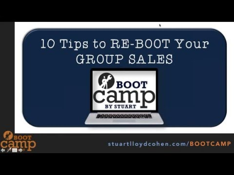 TIPS TO RE BOOT YOUR GROUP SALES