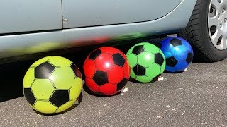 Crushing Crunchy & Soft Things by Car! - EXPERIMENT: SOCCER BALL VS CAR