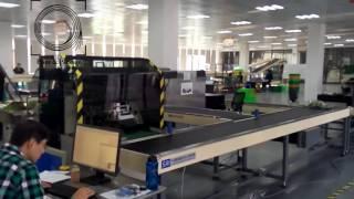 Горизонтальная упаковочная машина HDL 900X на упаковке зеленого салата