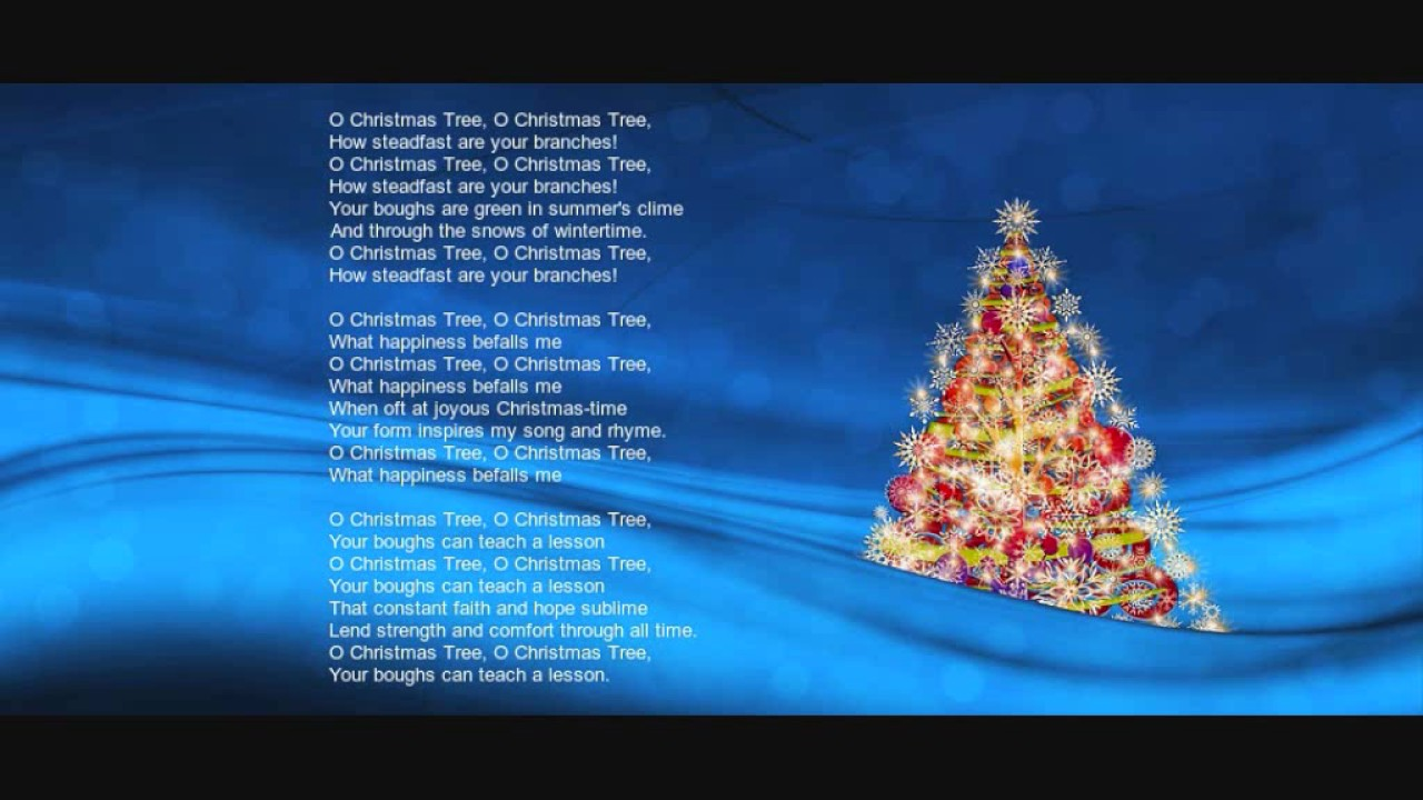 Oh Christmas Tree Lyrics - YouTube