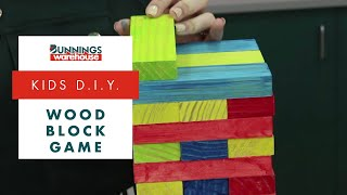 How To Make A Wood Block Game - Diy At Bunnings