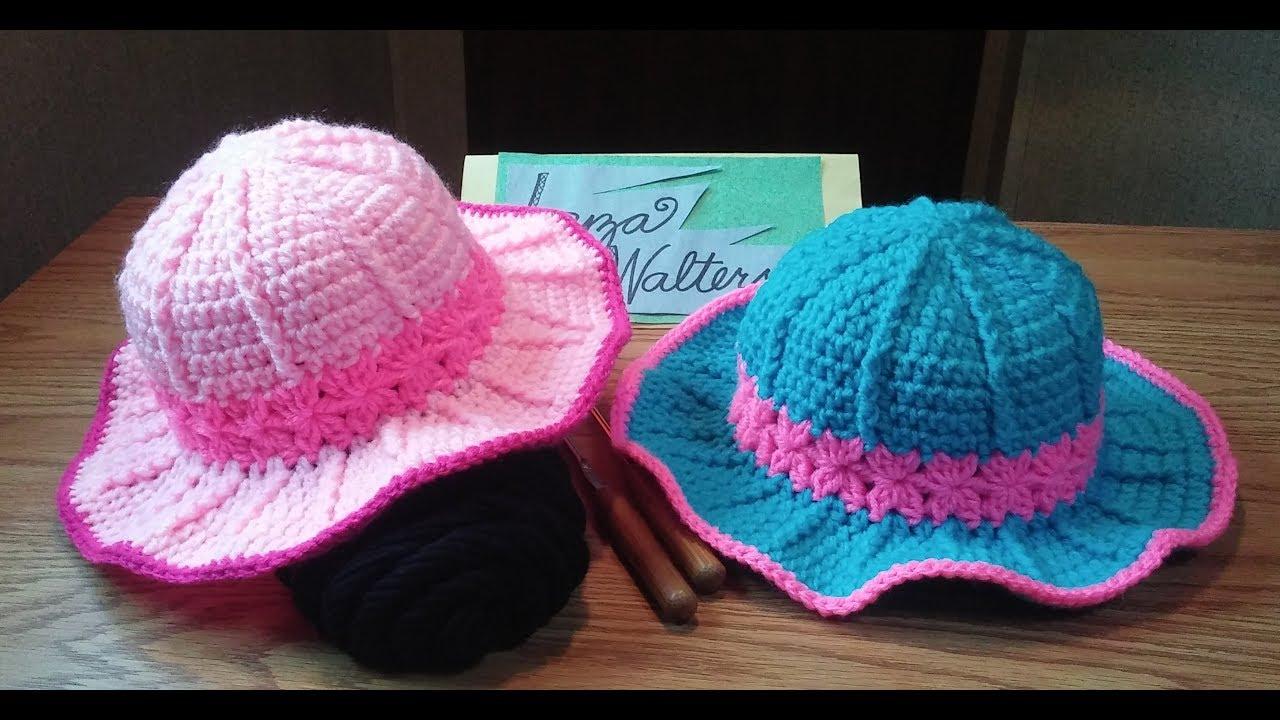 cad6f3da Crochet Pretty in pink sun hat part 1 - YouTube