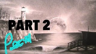 how to draw a night beach landscape Part 2 ocean waves sand
