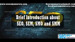 Brief Introduction about SEO, SEM, SMO and SMM | Become SEO Hero