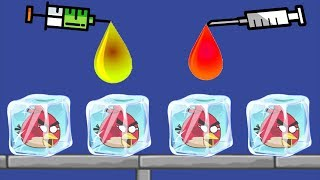 Unfreeze Angry Birds - DRAW COLOR WATER WAY TO RESCUE THE FROZEN BIRDS FULL!