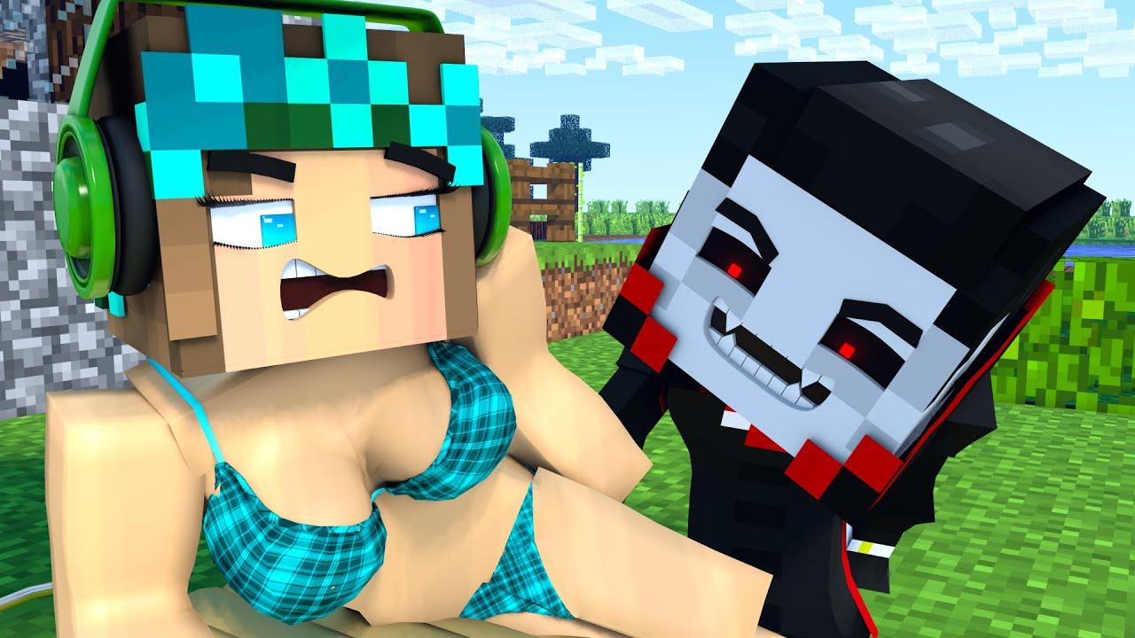 The minecraft life of Steve and Alex   Skinny vampire   Minecraft animation