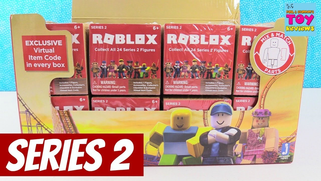 Roblox Series 2 Figures Full Case Opening Toy Review Game