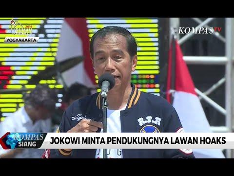 Jokowi Minta Pendukungnya Lawan Hoaks
