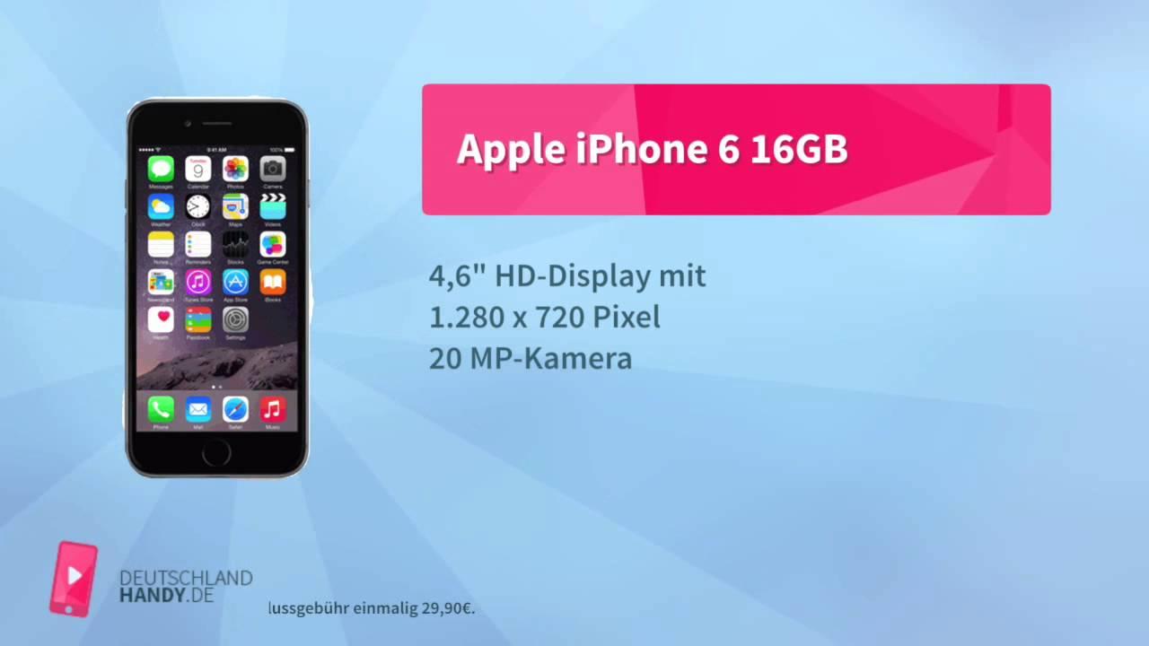 apple iphone 6 16gb mit 1 1 ann net flat pro e netz. Black Bedroom Furniture Sets. Home Design Ideas