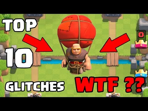 Top 10 Glitches in Clash Royale | Updated 2016