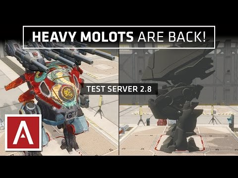 War Robots Test Server [2.8] - NEW Heavy Machine Gun Prototype + Dash MK3 Prototype Robot