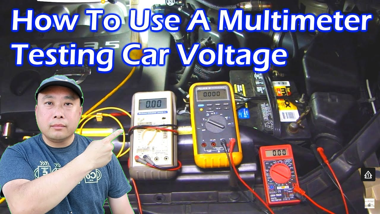 medium resolution of how to use a multimeter test car voltage video 2