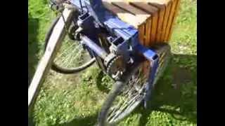 Самодельный трехколесный грузовой велосипед работа привода заднего колеса(Самодельный трехколесный грузовой велосипед работа привода заднего колеса. Можете также посмотреть други..., 2013-09-11T20:08:21.000Z)
