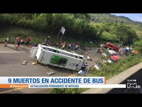 Al menos nueve muertos deja accidente de bus en vía Buga - Yotoco