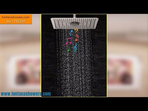 Calais Rain Chrome Radio Music Bluetooth Massage Jets Bathroom Shower Set Mixer