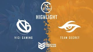 Highlight DAC 2018 | Main Event Day 1 | Vici Gaming vs Team Secret